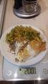 Гречка-70гр,яйца-80гр и салат с капустой