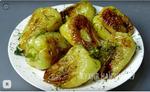 Жареный болгарский перец с чесноком и помидорами