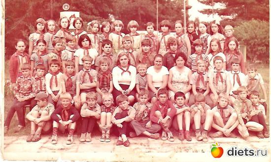 """июль 1979 год, альбом: Пионерский лагерь """"Огонёк""""  в Васкелово"""