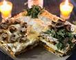 Рваный пирог из лаваша с сыром и грибами.