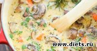 Простой овощной суп с шампиньонами за 30 минут