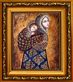 Необычная икона: Колыбельная (Несущая в платке) икона Божьей Матери