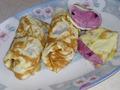 Яичные блинчики со сладкой начинкой