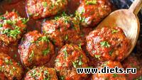 Домашние тефтели с гречкой в томатном соусе