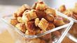 Карамельный попкорн из хлеба за 15 минут - Улетная закуска к фильму