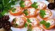 Фаршированные помидоры с семгой и сыром
