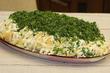 Селедка в зеленой шубке или весенний вариант