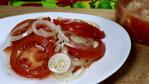 Закуска из помидоров в медово-лимонном маринаде