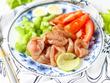 Салат с карпаччо из куриной грудки