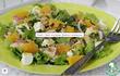 Салат из курицы, брынзы и апельсина